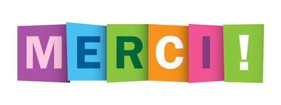 "Icne Vecteur ""MERCI"""