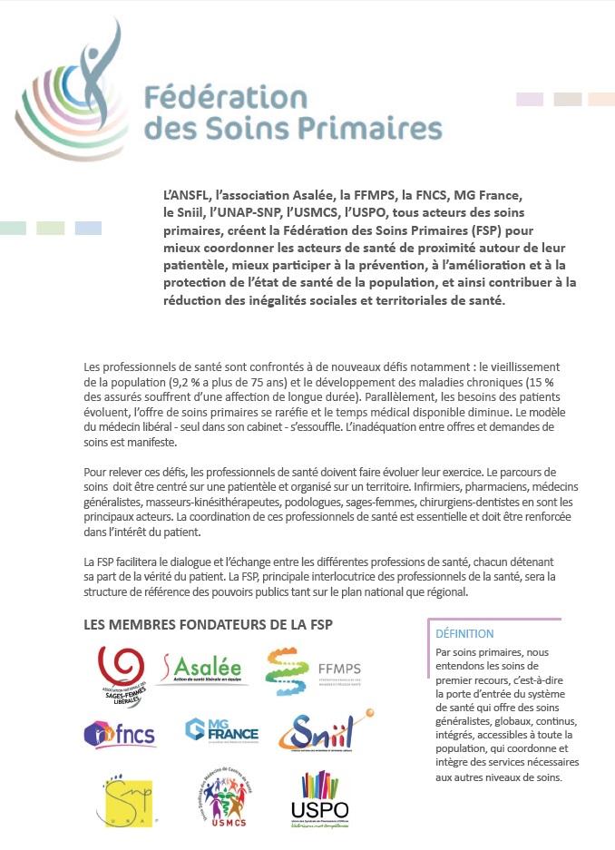 Fédération des Soins Primaires FSP