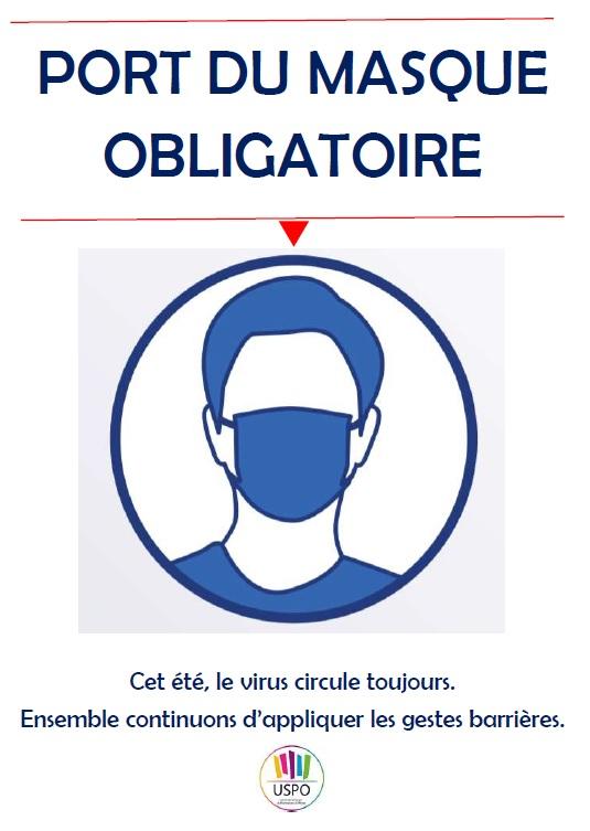 """Affiche """"Port du masque obligatoire"""", Protection de l'équipe ..."""