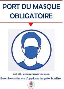 Affiche Port Du Masque Obligatoire Protection De L Equipe Nettoyage Des Locaux Rappel Uspo